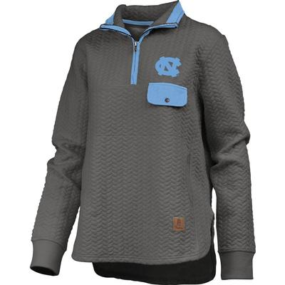 UNC Women's Pressbox Caribou Quilted 1/4 Zip