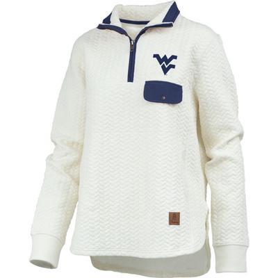 West Virginia Women's Pressbox Caribou Quilted 1/4 Zip
