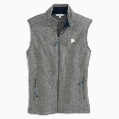 Clemson Women's Southern Tide Gameday Fleece Sweater Vest