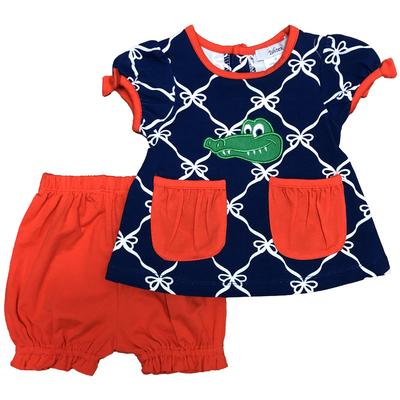 Florida Ishtex Infant Girl Short Sleeve Tee & Bloomer Set