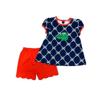 Ishtex Toddler Girl Short Sleeve Tee & Short Set
