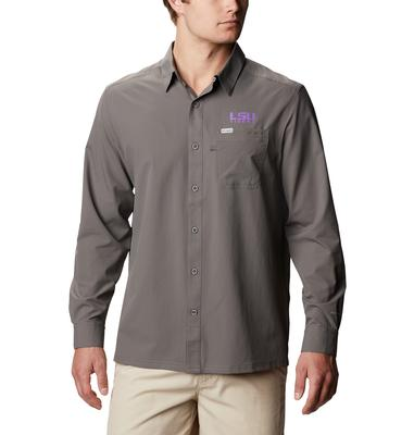 LSU Columbia Men's CLG Slack Tide Long Sleeve Shirt