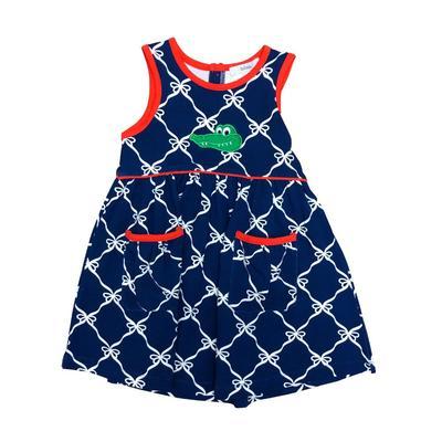 Ishtex Toddler Girl Bow Print Tank Dress