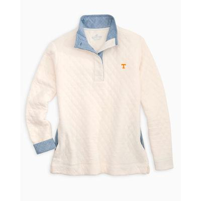 Tennessee Women's Southern Tide Quilted Pullover