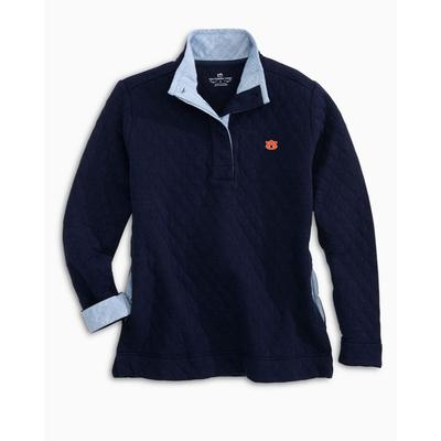 Auburn Women's Southern Tide Quilted Pullover