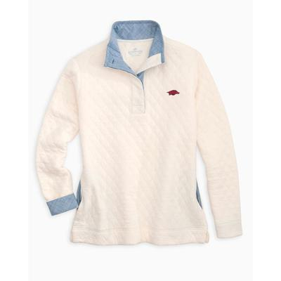 Arkansas Women's Southern Tide Quilted Pullover