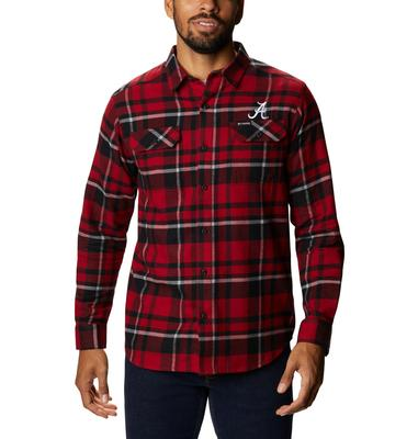 Alabama Columbia Men's Flare Gun Flannel Plaid Long Sleeve Shirt