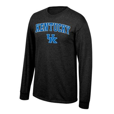 Kentucky Arch Logo Long Sleeve Tee BLACK_HTHR