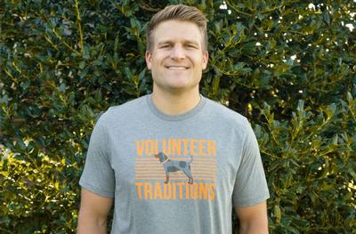 Tennessee Volunteer Traditions Bluetick Stripe Tri Blend Tee