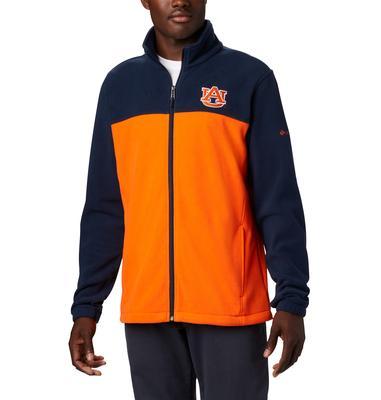 Auburn Columbia Men's Flanker III Fleece Jacket - Big Sizing NAVY/ORANGE
