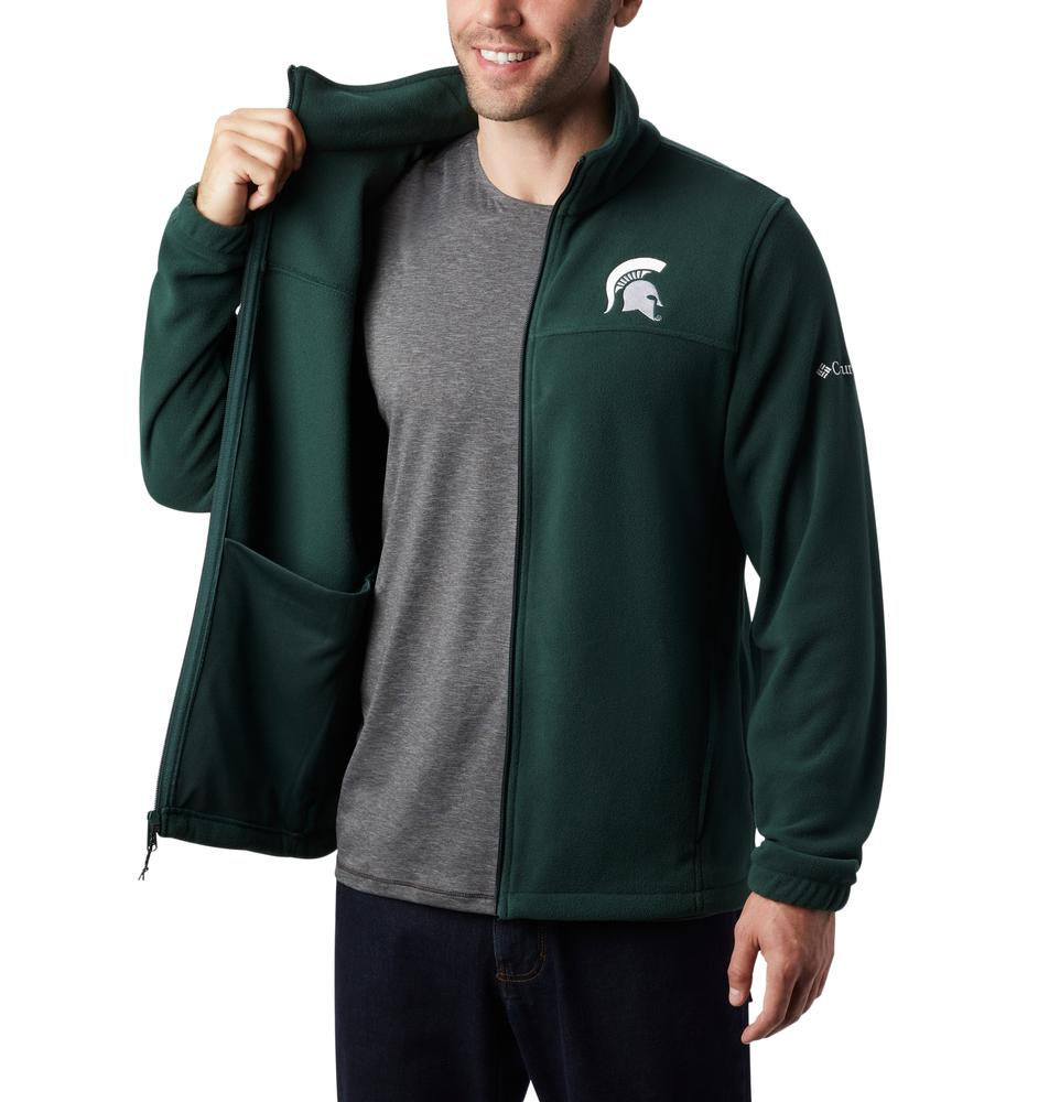 Michigan State Columbia Men's Flanker Iii Fleece Jacket - Tall Sizing