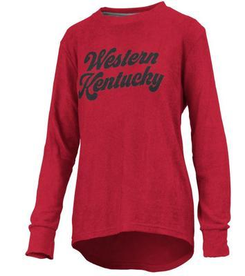 Western Kentucky Pressbox Women's Morganton Cuddle Knit Crew