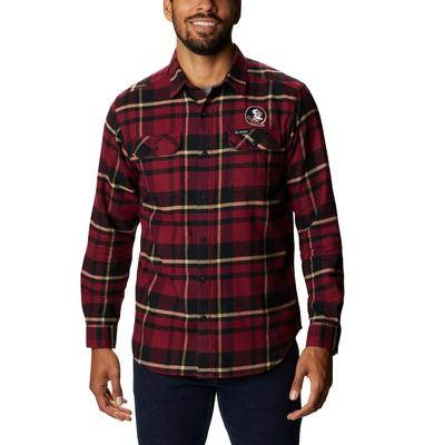 Florida State Columbia Men's Flare Gun Flannel Plaid Long Sleeve Shirt