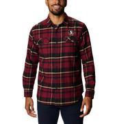Florida State Columbia Men's Flare Gun Flannel Plaid Long Sleeve Shirt