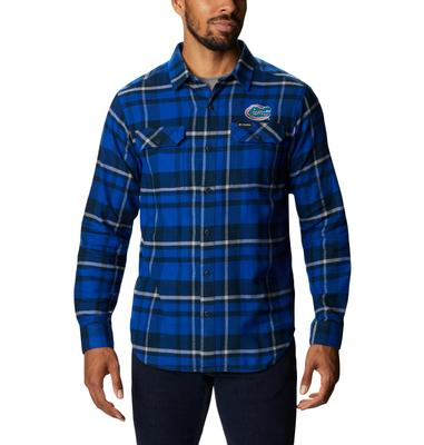 Florida Columbia Men's Flare Gun Flannel Plaid Long Sleeve Shirt