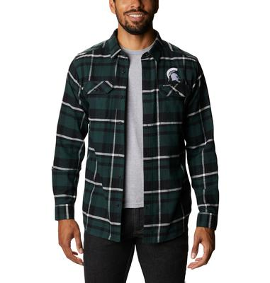 Michigan State Columbia Men's Flare Gun Flannel Plaid Long Sleeve Shirt