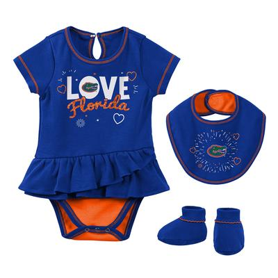 Florida Gen2 Infant Girl Creeper, Bib, & Bootie Set