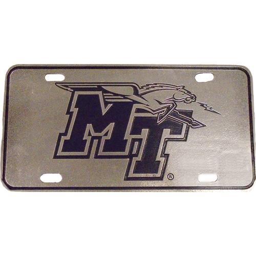 Mtsu License Plate Pewter Mt Logo