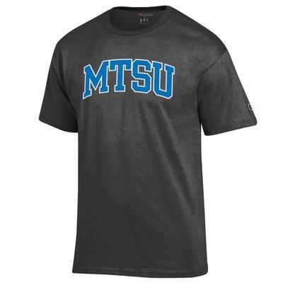 MTSU Champion Men's Arch Tee Shirt GRANITE_HTHR