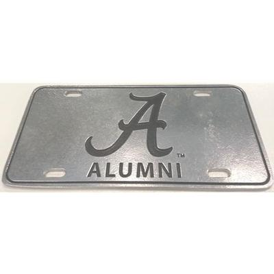 Alabama Alumni Script A Pewter License Plate