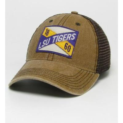 LSU Legacy Frayed X Patch Trucker Hat