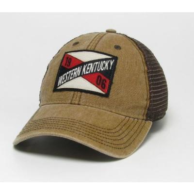 Western Kentucky Legacy Frayed X Patch Trucker Hat