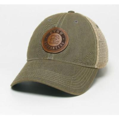 ETSU Legacy Leather Circle Patch Trucker Hat