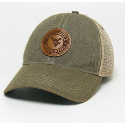 West Virginia Legacy Leather Circle Patch Trucker Hat
