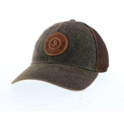 Florida State Legacy Leather Circle Patch Trucker Hat