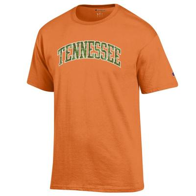 Tennessee Champion Men's Camo Arch Tee Shirt