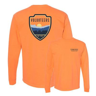 Tennessee Comfort Colors Outdoor Badge Long Sleeve Tee