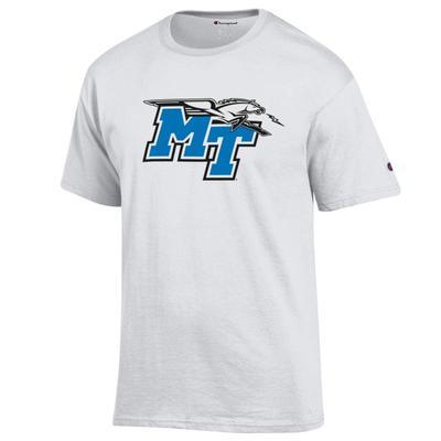 MTSU Champion Men's Giant Logo Tee Shirt WHITE