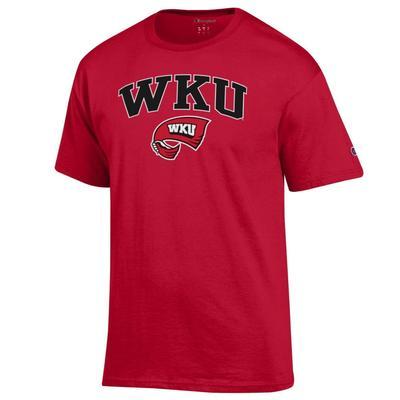 Western Kentucky Champion Men's Arch Towel Logo Tee Shirt
