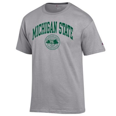 Michigan State Champion Men's Arch College Seal Tee Shirt OXFORD