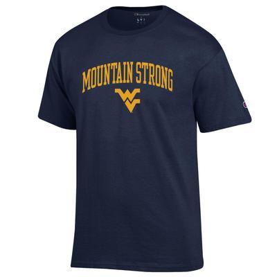 West Virginia Champion Men's Mountain Strong Arch Tee Shirt