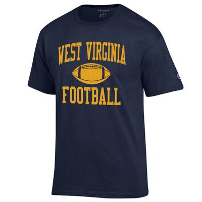 West Virginia Champion Men's Basic Football Tee Shirt