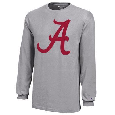 Alabama Champion YOUTH Jersey Long Sleeve Tee