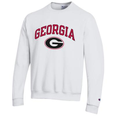 Georgia Champion Arch Logo Fleece Crew