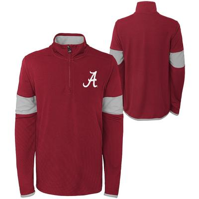 Alabama Youth Field Poly Mesh 1/4 Zip Pullover