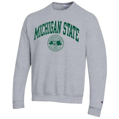 Michigan State Champion College Seal Arch  Fleece Crew