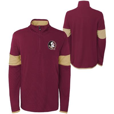 Florida State YOUTH Field Poly Mesh 1/4 Zip Pullover