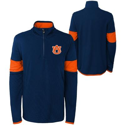 Auburn YOUTH Field Poly Mesh 1/4 Zip Pullover