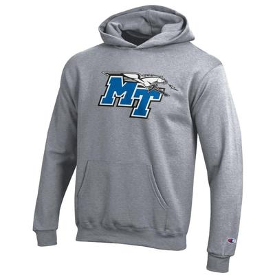 MTSU Champion YOUTH Powerblend Screen Hoody
