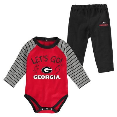 Georgia Infant Touchdown Creeper Pant Set
