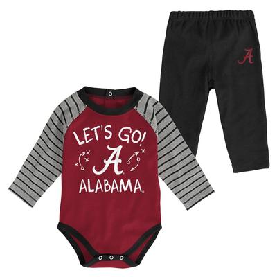 Alabama Infant Touchdown Creeper Pant Set