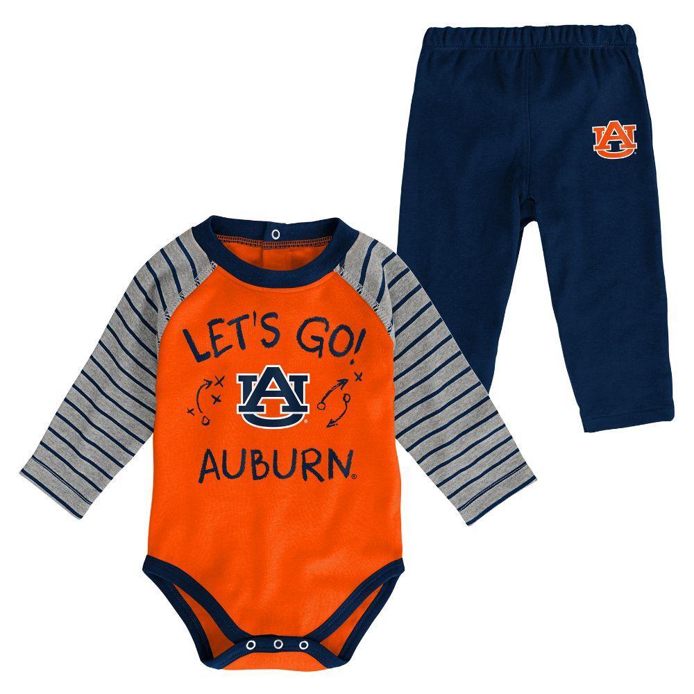 Auburn Infant Touchdown Creeper Pant Set