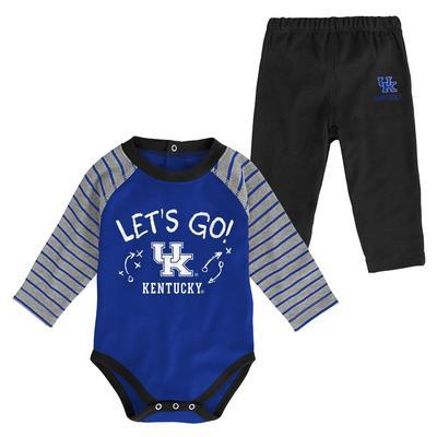 Kentucky Infant Touchdown Creeper Pant Set
