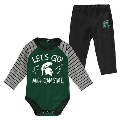 Michigan State Infant Touchdown Creeper Pant Set