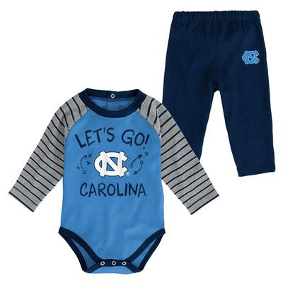 North Carolina Infant Touchdown Creeper Pant Set