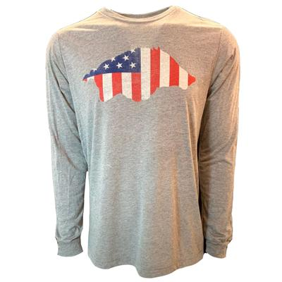 Arkansas B Unlimited Americana Hog Long Sleeve Tee